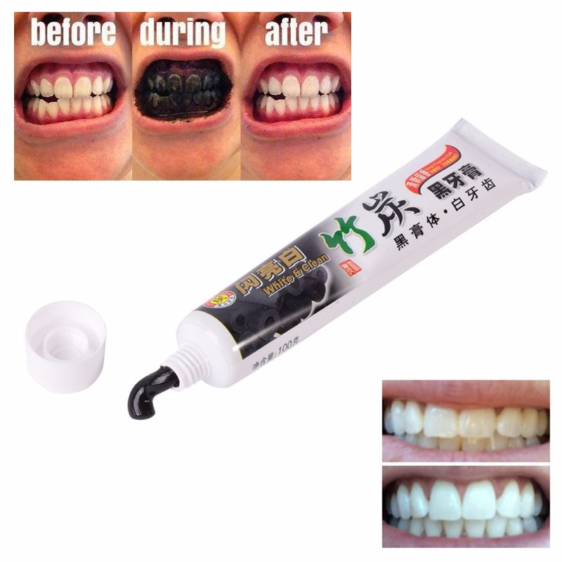 100 Natural Bamboo Charcoal Teeth Whitening Toothpaste
