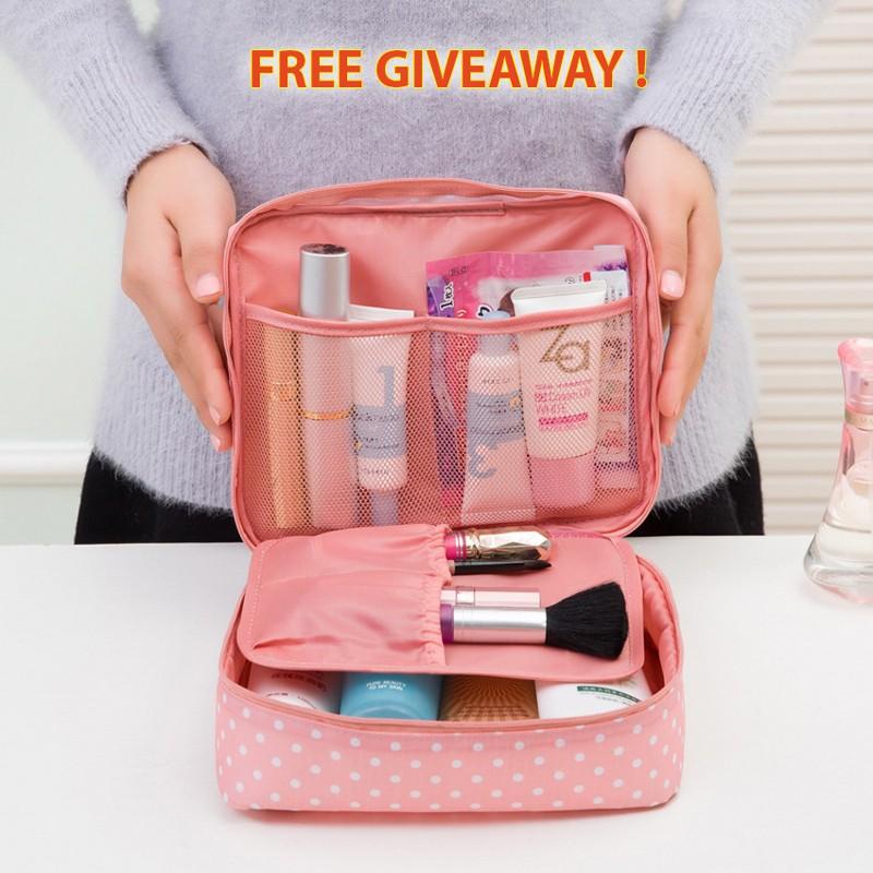 Portable Toiletry Cosmetic Makeup Waterproof Travel Kit Handbag
