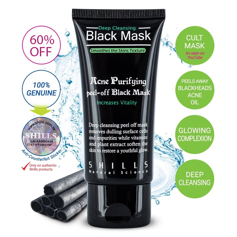 shills deep cleansing purifying peel off black face mask Blackhead Remover