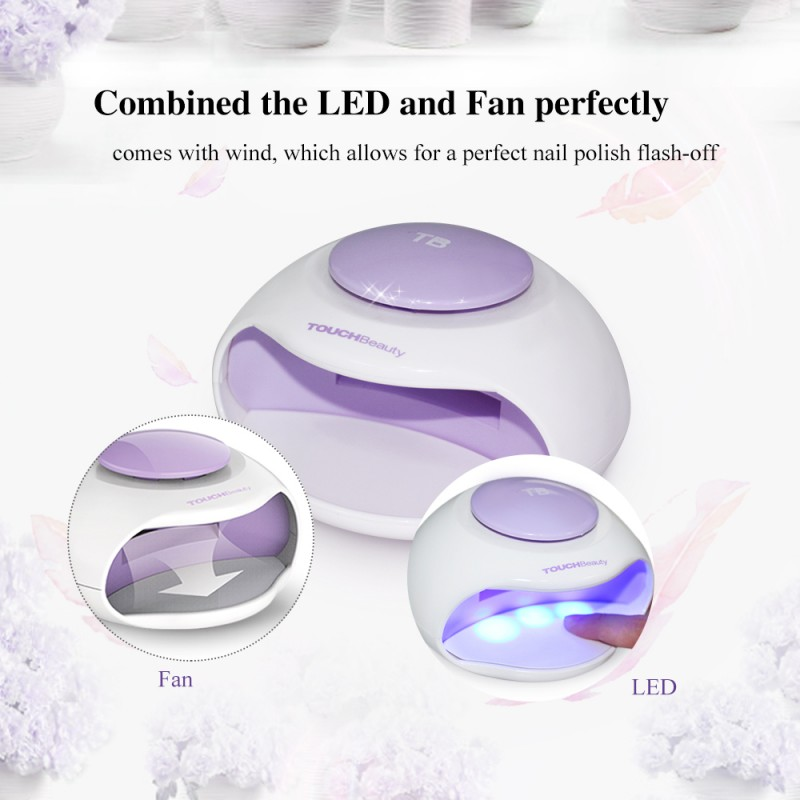 TOUCHBeauty LED light nail dryer, portable nail polish drying tool