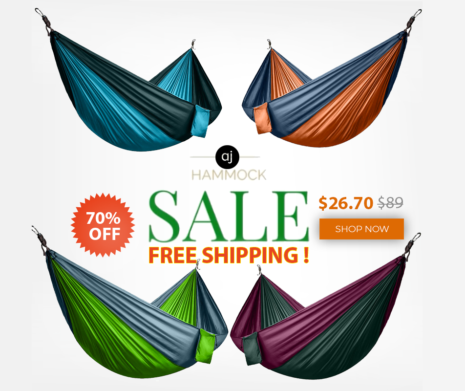 PORTABLE PARACHUTE HAMMOCK FOR 2 PEOPLE